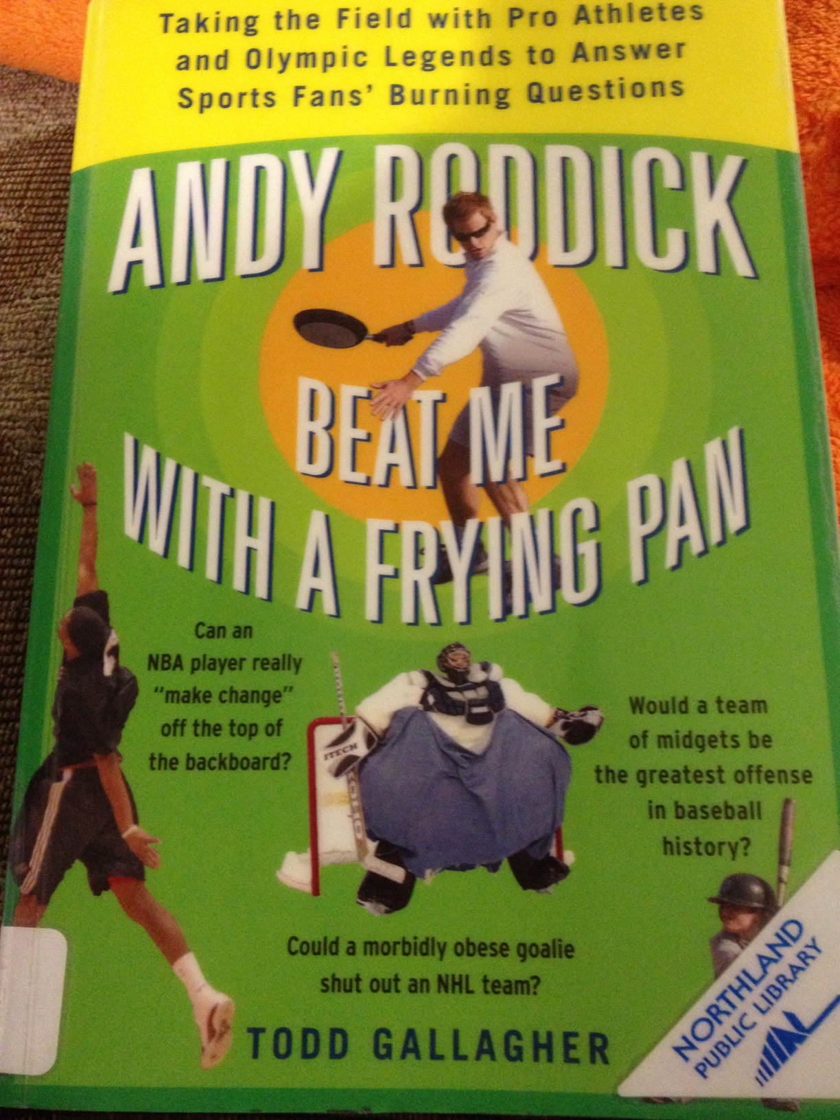 Cover of Andy Roddick Beat Me With a Frying Pan by Todd Gallagher