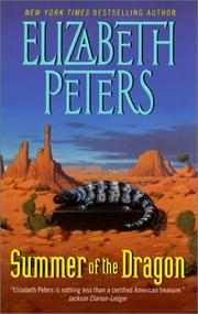 Cover of Summer of the Dragon by Elizabeth Peters
